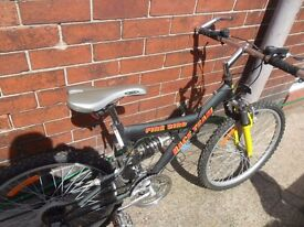 Boys 24inch Wheels Firebird Front and Rear Suspension Bike Cycle - 21 gears - BARGAIN £25