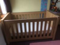 Charnwood Cot and Toddler Bed with mattress