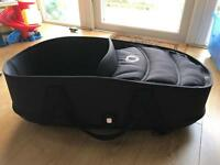 Bugaboo Bee 3 carrycot, base and adapters.