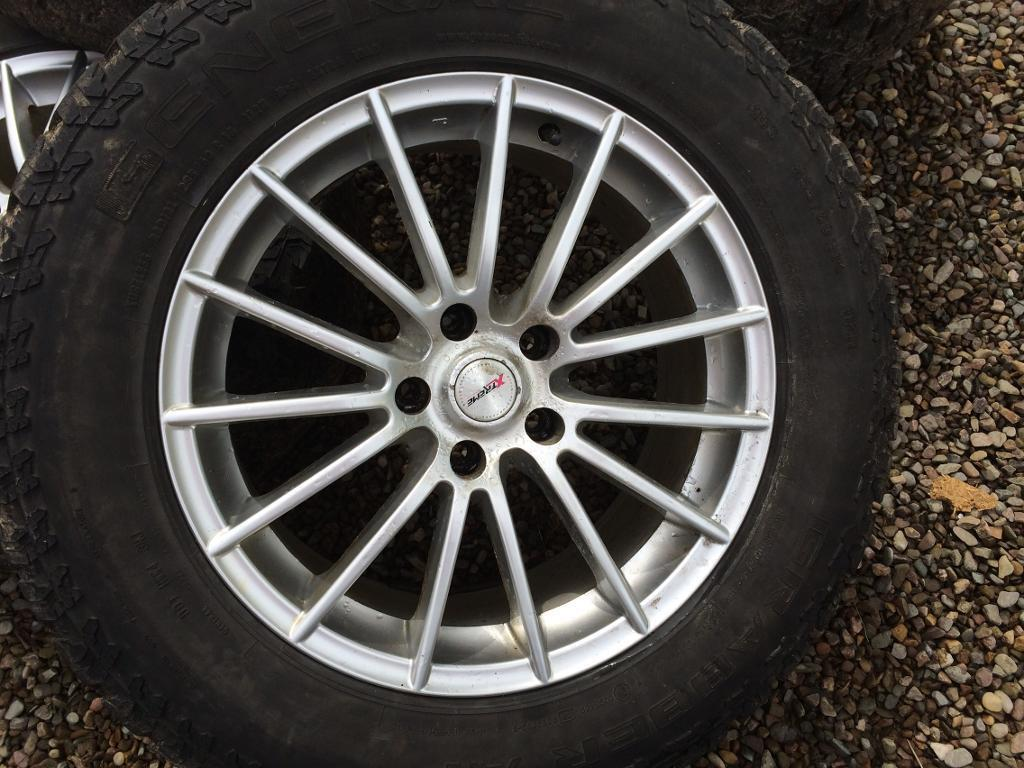 "18"" alloys with winter tyres"