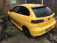 Seat Ibiza Formula Sport 100 1390cc Petrol Turbo 5 speed manual 3 door hatchback 57 Plate 07/09/2007