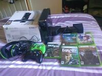 Xbox 360 console 250gb kinect two controllers headphones 5 games