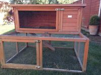2 x guinea pig or dwarf rabbit cages with built in run