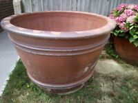 Extra large garden pot.... rustic finish salt glazed ....110 cm dia x 80 cm high