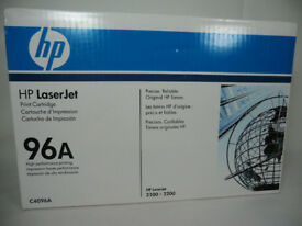 HP 96a toner cartridges, new/unused/unpulled opened boxes, save ££'s