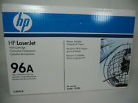 HP 96a toner cartridges, new/unused/unpulled opened boxes
