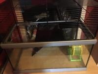 Small rodent cage, gerbils, hamster, mouse