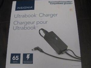 Insignia 65W Universal Ultrabook Charger / Power Adapter. ASUS Zenbook / Dell / HP / Chromebook / Toshiba / Sony. NEW