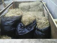 Bin bags full of straw £2 each