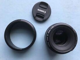Canon EF 50mm 1:4.4 lens excellent condition