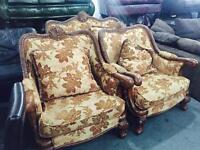 Vintage chesterfield 2 11 sofa set
