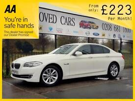 BMW 5 SERIES 2.0 520D SE 4d AUTO 181 BHP AUTOMATIC LUXURY Apply (white) 2013