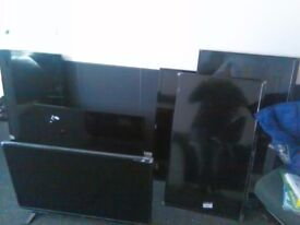 6 x faulty Luxor televisions with smashed screens. For parts