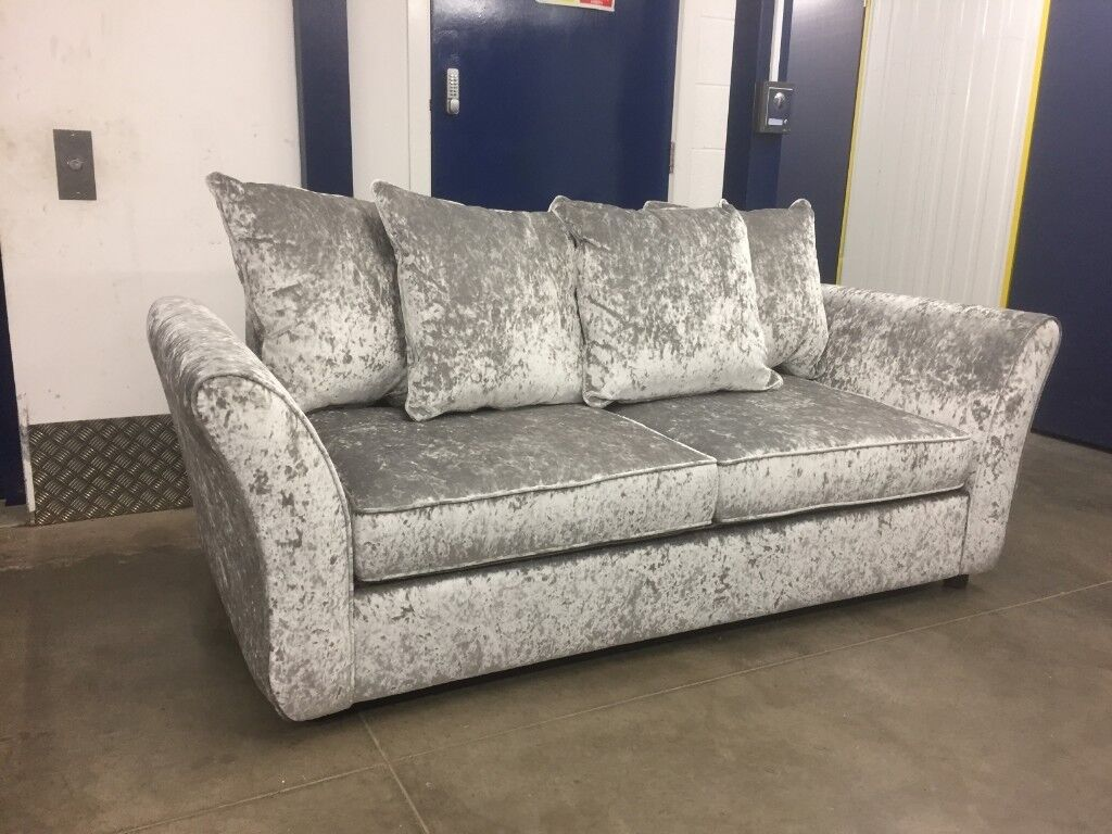 Brand New Dfs Maie Crushed Velvet Sofa Bed Delivery Available