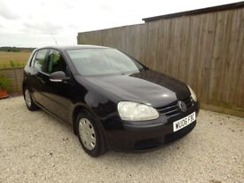 VW Golf 2.0 SDI S 5 door hatch black V low mileage 77k MOT to 24/7/19 Extensive service history
