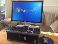 *** FULL SET**Dell 780 / Wireless / intel 3.0Ghz / 4GB Ram + Dell Monitor Desktop Computer