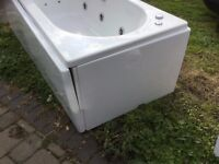Three bath panels, contemporary white , to fit 1800mm bath two short ends, one long side.