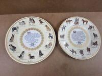 Aynsley Horse and Dog Poem Plates