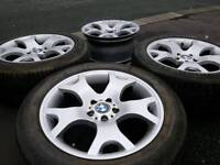 "GENUINE BMW 19"" TIGER CLAW ALLOY WHEELS & TYRES 5X120 X3 X5 VW T5 VIVARO"
