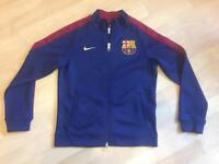 Boys medium Nike FC Barcelona zip up jacket football