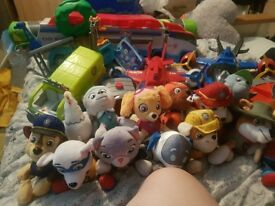 large bundle of paw patrol toys,books , games and teddys .