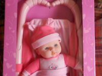 BELLA DOLL WITH BUGGY STILL BOXED DUPLICATED PRESENT