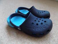 Boys Navy Blue Crocs - Size J2