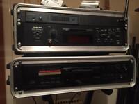 Two mini disc recorders