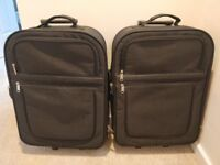 Pair Of Hand Luggage Size Black Cabin Suitcases