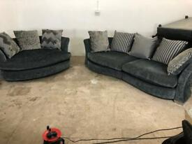 Grey dfs 4 seater sofa & large 2 seater sofa, couch, suite, furniture 🚛🚚