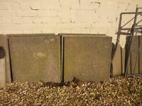 Garden concrete slabs. 2 ft x 2 ft. Used but in good condition.