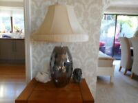 Large lamp with shade