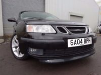 💥04 SAAB 9-3 AERO 210 BHP 2.0 CONVERTIBLE,MOT JUNE 017,2 OWNERS,FULL HISTORY,2 KEYS,GREAT CAR💥