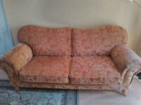 Barker & Stonehouse suite consisting of deep seated sofa Armchair and Footstool