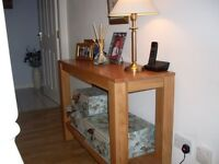 Console Table, Solid wood, light oak - excellent condition