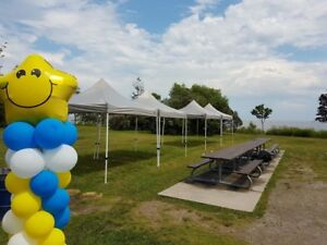 Inquire about renting tents, tables, chairs and party rentals!