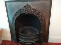 Victorian Fireplace: original, Beligian, filligree decoration.