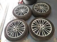18 inch Audi vw r32 alloy wheels pcd 5x100