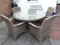 Hartman 6 seater round table and six chairs