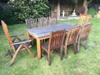 8-seater teak garden dining table from Swan of Hattersley