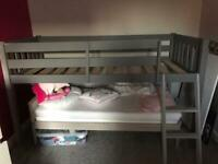 Bed with under storage space (Mid sleeper).