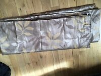 Fully lined John Lewis curtains- each curtain 160cm/ 220cm- fab quality & condition