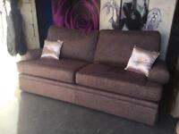 New Marks and Spencer Berkeley 3 Seater Sofa In Texture Weave Mauve Fabric
