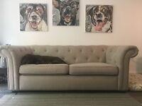 DFS Chester: Plain 3 Seater Sofa Bed Originally £1,758