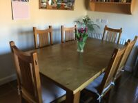 Bargain Price, Solid Wood, Large Kitchen / Dining Table