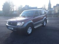 Toyota Landcruiser 3.0 td Colorado 8 seater rare manual uk spec mint 4x4 ready for winter px