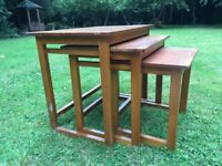 1960s Solid Wood Nest of Tables