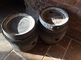 Bullards barrels norwich antique x2