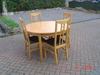 Circular / Oval Dining Table with up to Six High Backed Chairs. Will Sell separately. Can Deliver.
