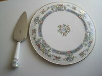Royal Worcester cake plate and matching slice